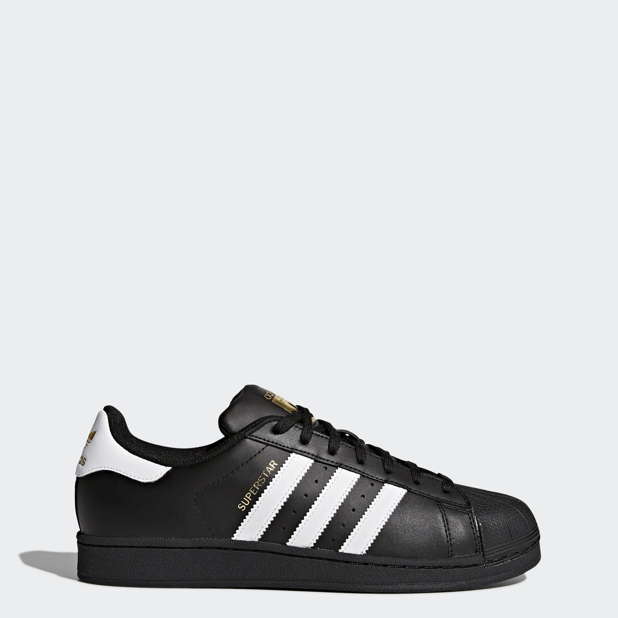 adidas - Superstar Foundation Shoes Core Black / Cloud White / Core Black  B27140 ...